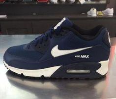 Nike スニーカー 希少 ★ NIKE AIR MAX 90 GS ミッドタウンネイビー/ホワイト