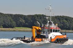 24 augustus 2016 op de Nieuwe Waterweg na proefvaart Europoort  weer terug naar de werf via de stad  YN 571705   http://koopvaardij.blogspot.nl/2016/08/passage-maassluis.html