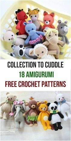 Collection to Cuddle 18 Amigurumi Free Crochet Patterns #crochet #freepattern #amigurumi