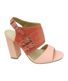 Love this Pink Celine Open-Toe Pump on #zulily! #zulilyfinds