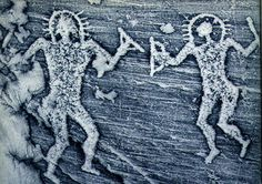 Cave painting found in Italy that is said to depict ancient astronauts