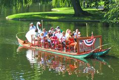 From mid-April through mid-September, the Swan Boats in Boston's Public Garden are always a favorite activity for tourists and locals. Green Line to Park Street.