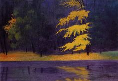 Felix Vallotton, The Lake in the Bois de Boulogne, 1921. Colors!