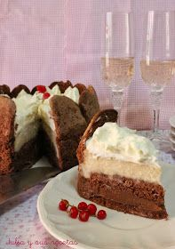 tartas, charlota, charlota de coco y chocolate, Julia y sus recetas, coco, chocolate, postres, dulces