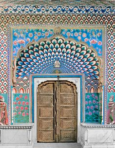 Door of Shiva from the 18th century in Jaipur, India.
