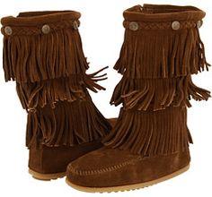 Minnetonka Kids 3-Layer Fringe Boot (Toddler/Little Kid/Big Kid) on shopstyle.com