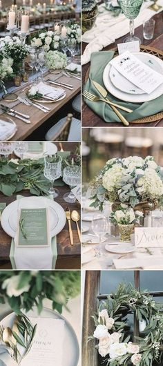 30 Sage Green Wedding Ideas for 2019 Trends Page 2 of 2 Oh Best Day . - 30 Sage Green Wedding Ideas for 2019 Trends Page 2 of 2 Oh Best Day Ever - Green Wedding Decorations, Wedding Themes, Wedding Designs, Wedding Parties, Green Weddings, Wedding Centerpieces, Green Decoration, Centerpiece Ideas, Green Wedding Arrangements