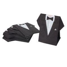 serviette jetable pr plie design costume de mari x10 dco mariage baptme objet - Gifi Mariage