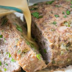 1770 House Meatloaf with a to die for roasted garlic gravy