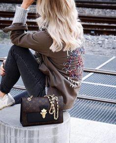 Louis Vuitton Victoire Shoulder Bag Monogram Canvas black Louis Vuitton Bags, Louis Vuitton Shoulder Bag, Louis Vuitton Monogram, Latest Handbags, Handbags Online, Louis Vuitton Shoes Sneakers, Luxury Purses, Biker Chic, Monochrome Fashion