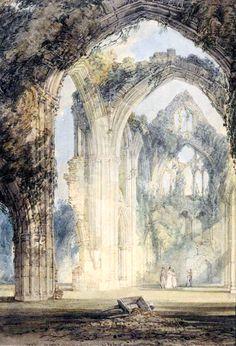 1795J.M.W. Turner (BritishRomanticlandscape painter,water-colourist, andprintmaker;1775-1851) ~ Tintern Abbey, the Transept