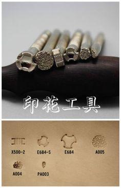 DIY-hand-tanned-leather-Cowhide-Cowhide-printing-kits-tool-Pattern-DK-Y