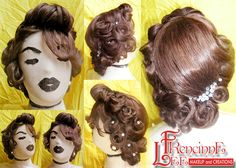 ROSE-INSPIRED HAIRSTYLE/HAIRDO for WEDDING/ DEBUT http://www.facebook.com/pages/Frencinne-Lee-Makeup-and-Creations/150484685053195