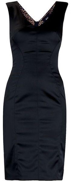Dg Classic Satin Little Black Dress