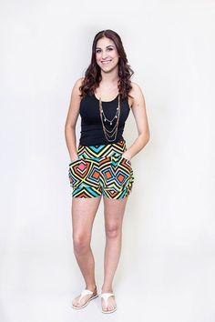 Honey and Lace : Neon Maze Harem Short Harem Shorts, Boho Shorts, Honey And Lace Clothing, Honey Lace, Cute Wedges, Maze, Neon, My Style, Stylish