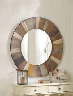 Vintage Reclaimed Wood Mirror #kirklands #vintagechic