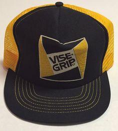 Vtg Vise-Grip Trucker Hat Manufacturing Dewitt Nebraska NE Tools Cap Made  In USA 219da88b614e