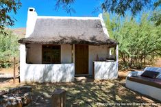 Enjo Nature Farm, Clanwilliam & Cederberg, Western Cape on Budget-Getaways South African Homes, African House, Cabins And Cottages, Beach Cottages, Weekend Getaways With Kids, South Afrika, Cape Dutch, Jungle House, Budget Holidays
