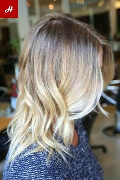 Beachy blonde for summer.