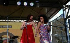 Juliana Areias (Perth), Gabriela Soares (Sydney) and Trio Agogo (Melbourne) together at the Ritmo Festival 2012.