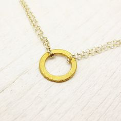 Eternal Gold Vermeil & Sterling Silver Necklace circle by byjodi, $55.00