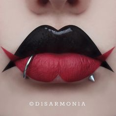 "Veronica Anrathi on Instagram: ""❤DOUBLE TROUBLE Finally made a new lip art, playing with shapes again. What do you think? I…"""