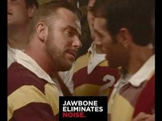 CLEVER, HYSTERICAL & SEXY!! This is this Jawbone blue tooth TV commercial. That's a REAL rugby team + two actors Pete & Randy. Rugby team didn't know about t...