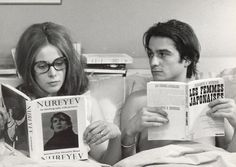 Claude Jade and Jean-Pierre Léaud in Domicile conjugal (Bed and Board), 1970, directed by François Truffaut