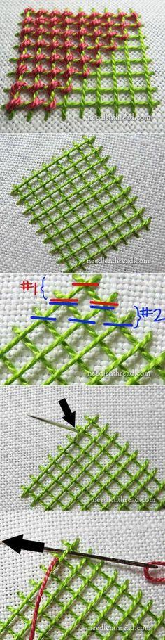 ч.1 Stitch Fun! How to Lace Lattice Stitches – Needle'nThread.com