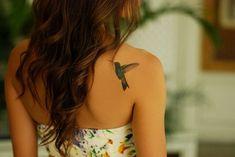 Bird Tattoos for Women Spine Tattoos, Body Art Tattoos, Girl Tattoos, Cute Tattoos, Small Tattoos, Hummingbird Tattoo Meaning, Bird Tattoos For Women, Back Of Arm Tattoo, Tattoo Arm Designs