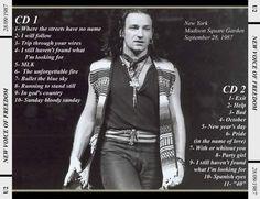 U2 -Joshua Tree Tour -Madison Square Garden-New-York ,USA 28/09/1987