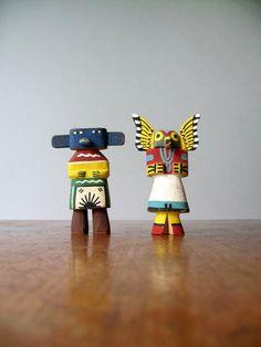 Vintage Hopi Kachina Dolls - Sakiestewa Route 66 Style via Etsy