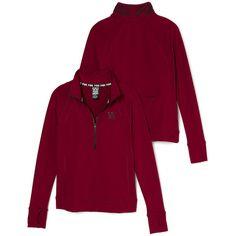 Hoodies and Sweatshirts - PINK ($50) ❤ liked on Polyvore featuring tops, hoodies, sweatshirts, victoria secret hoodie, pink half zip hoodie, hooded sweatshirt, pink hoodies and purple hoodies