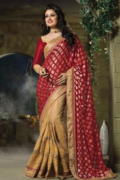 Noir Soie Mélangée Party Wear Wedding Designer Saree Sari