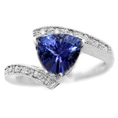 155ct AAA Trilliant Tanzanite & Diamond by DiamondCANDYcom on Etsy