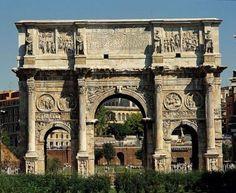 arco de triunfo que se encuentra entre el Coliseo y la colina del Palatino, en Roma -  La bella Italia | La columna de Miryam