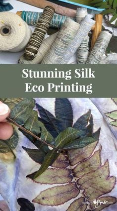 Stunning Silk Eco Printing 2019 Simple instructions to figure out the mysteries of Eco Printing on silk. Full explanation with detailed pictures. Make your own Silk Scarves! The post Stunning Silk Eco Printing 2019 appeared first on Scarves Diy. Thread Painting, Fabric Painting, Fabric Art, Fabric Crafts, Cork Crafts, Wooden Crafts, Bead Crafts, Fabric Design, Shibori