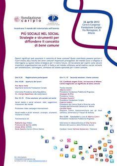 """Vidas partecipa al convegno """"Più sociale nel social"""" il 26 aprile presso il Centro Congressi Fondazione Cariplo #Milano"""