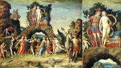 Parnassus, 1497 - Andrea Mantegna Date - Goddess of Love Aphrodite