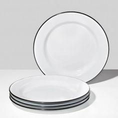 Falcon Black Plates Set of 4
