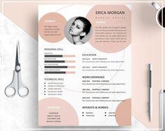 Nude Pink Resume Template/ Nude Pink CV Template/ Professional Resume Template/ Creative Resume Template/ Professional CV Template Design - Resume Template Ideas of Resume Template - Nude Pink Resume Template/ Nude Pink CV Template/ Professional Graphic Design Resume, Resume Design Template, Creative Resume Templates, Creative Resume Design, Cv Template Professional, Professional Resume, Professional Image, Cv Digital, Mises En Page Design Graphique
