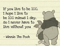 Winnie the Pooh - If you live to be 100...