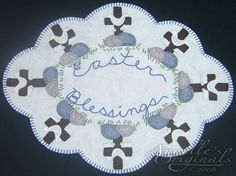 Easter Blessings Candle Mat/Penny Rug Pattern with Wool Kit.