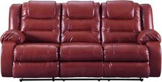 The Vacherie reclining sofa embodies a simple and functional design. Fabulous faux leather upholstery makes luxe living remarkably affordable. waterfall channel cushioning and manual reclining. lie back and enjoy sittin.