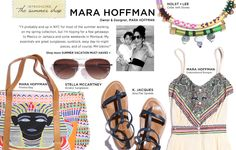 #MBFWSwim #PinIt2WinIt   Mara Hoffman is my favorite casual summer designer for swim coverups and now, flirty little dresses!  Check her out at Neimans and Saks on sale!  #amyesperstyling