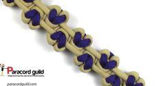 Serpent river bar paracord bracelet, other side. Hearts!