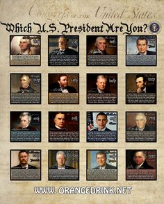 Meyers briggs personality types - US presidents