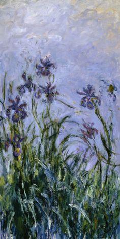 Iris  1914 by Claude Monet