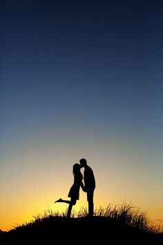So so cute! Perfect kiss at sunset! #engagement #wedding #photography