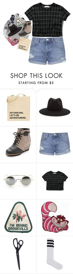 """""""mona lisas"""" by zoeswerve ❤ liked on Polyvore featuring moda, rag & bone, SOREL, Topshop, Abercrombie & Fitch, Disney, HAY, American Apparel, Marc Jacobs e women's clothing"""
